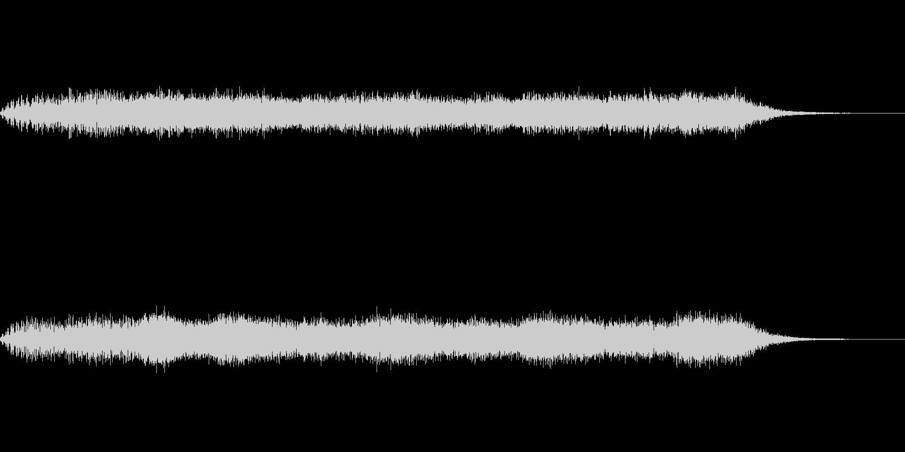 SF、ホラー的効果音の未再生の波形