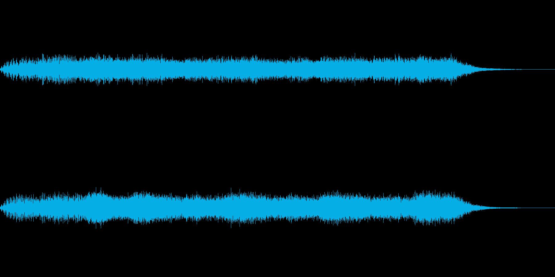 SF、ホラー的効果音の再生済みの波形