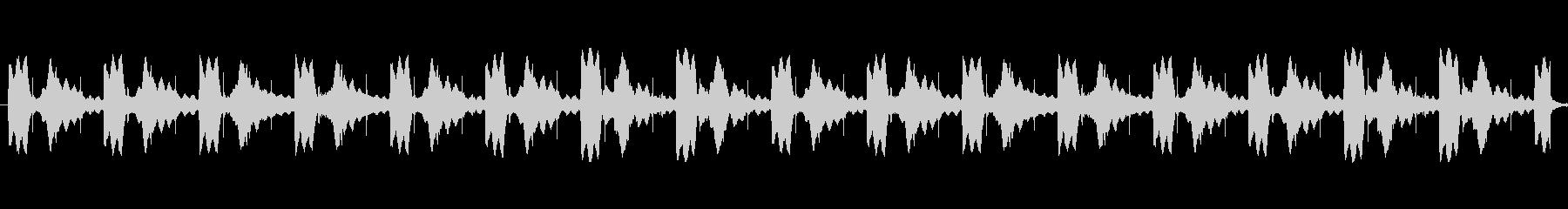 不気味なトイピアノによる怖いBGMの未再生の波形