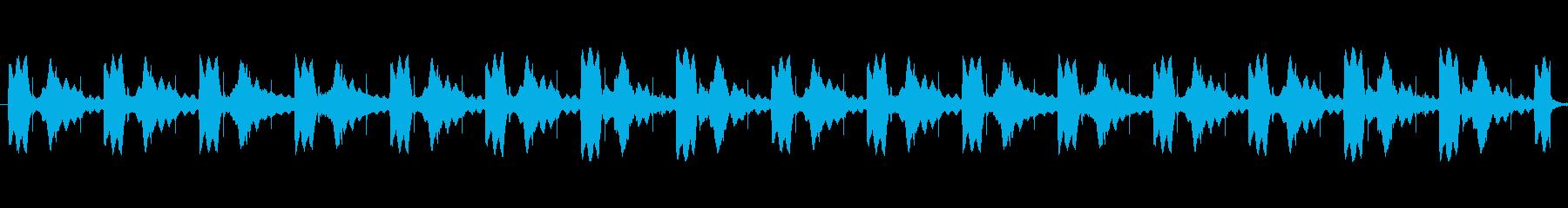不気味なトイピアノによる怖いBGMの再生済みの波形