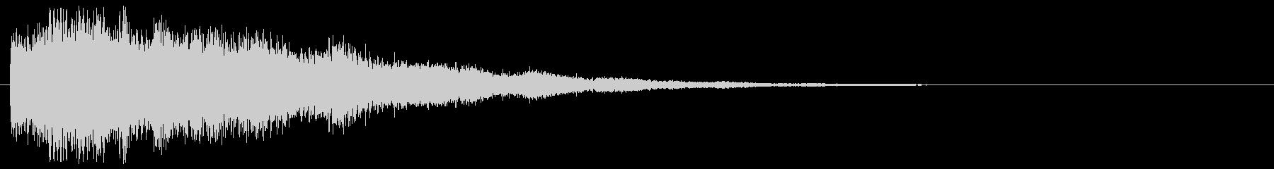 サイバーなミス音 不正解 ゲームオーバーの未再生の波形