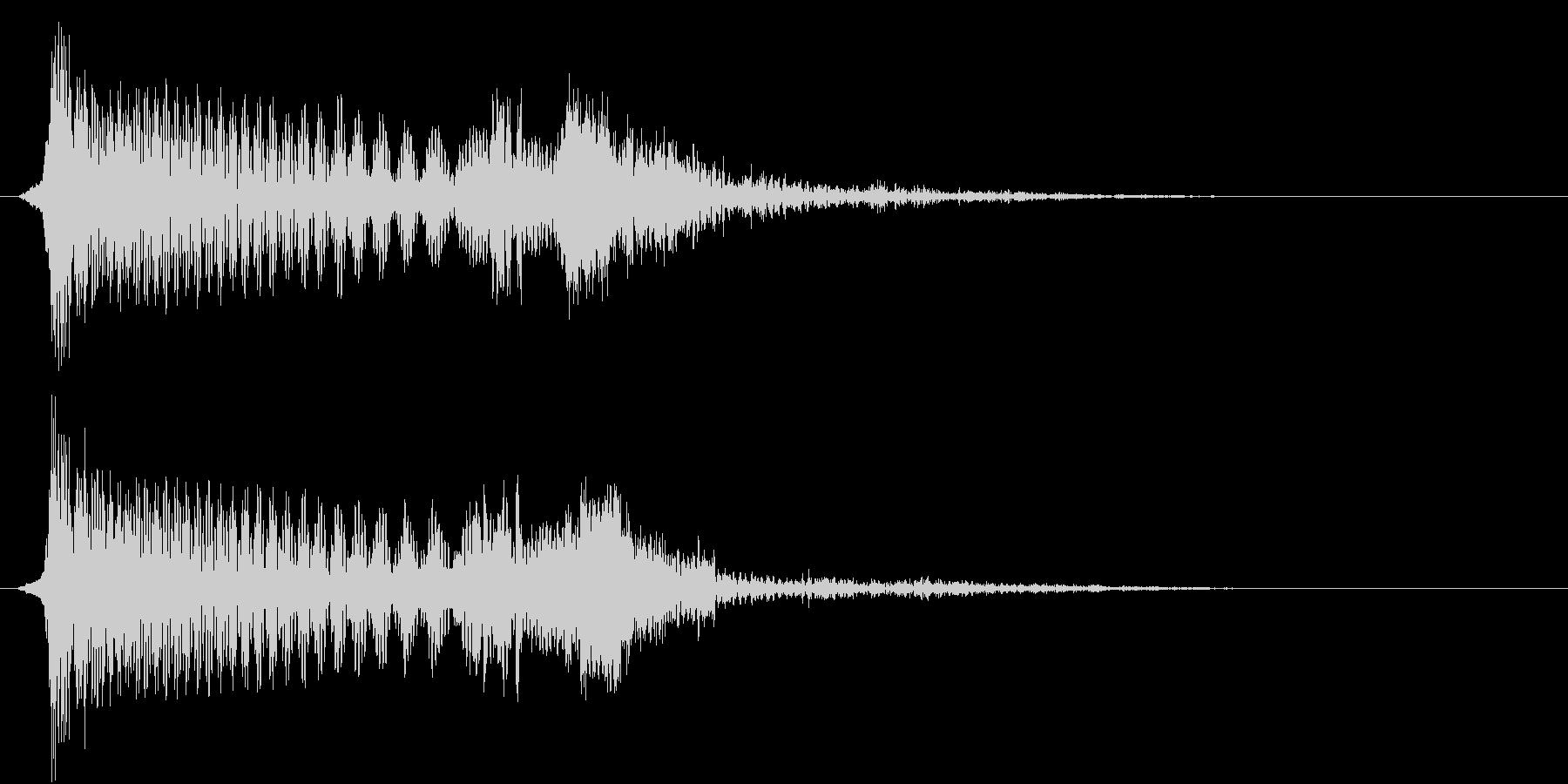 215_ショッキング音1(ひやっとする)の未再生の波形