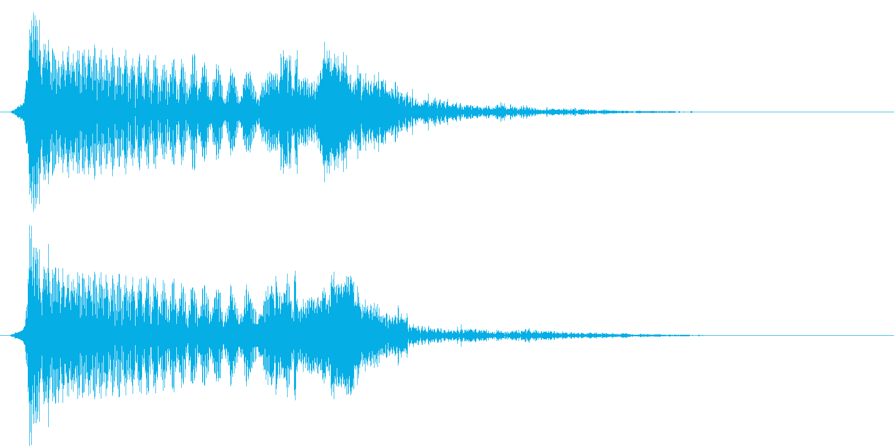 215_ショッキング音1(ひやっとする)の再生済みの波形