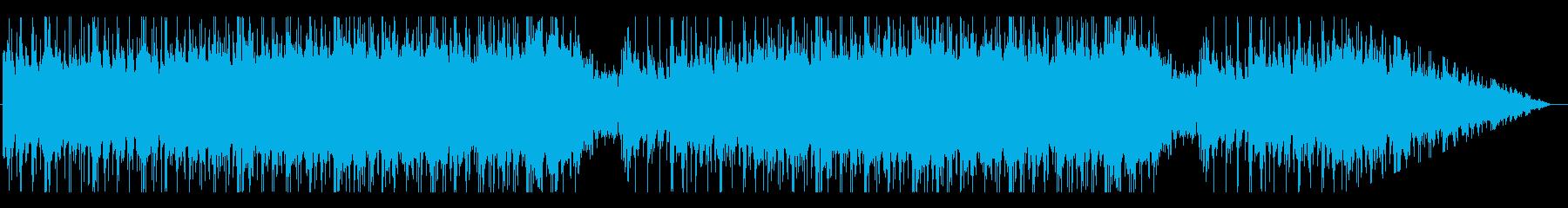 ロックなエレキギター/テンション上げの再生済みの波形