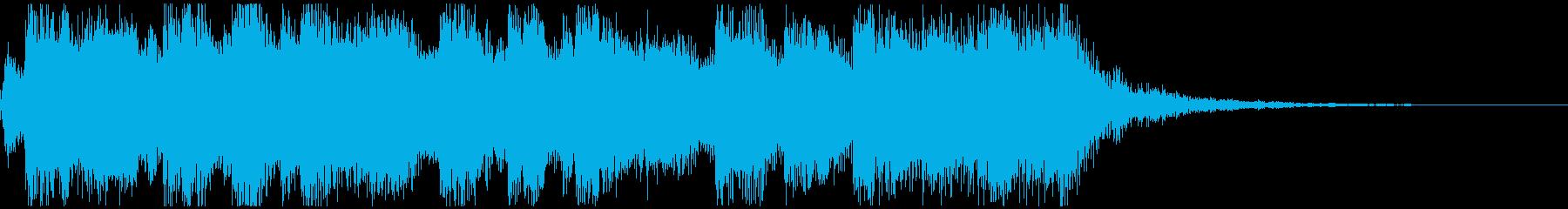RPG風ファンファーレ(行進曲風)の再生済みの波形