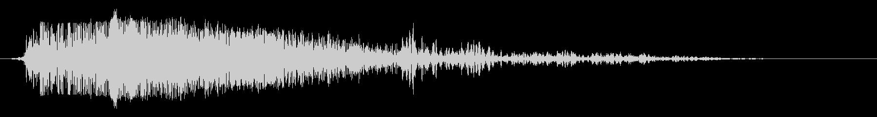 ミディアムメタルとウッドクラッシュの未再生の波形
