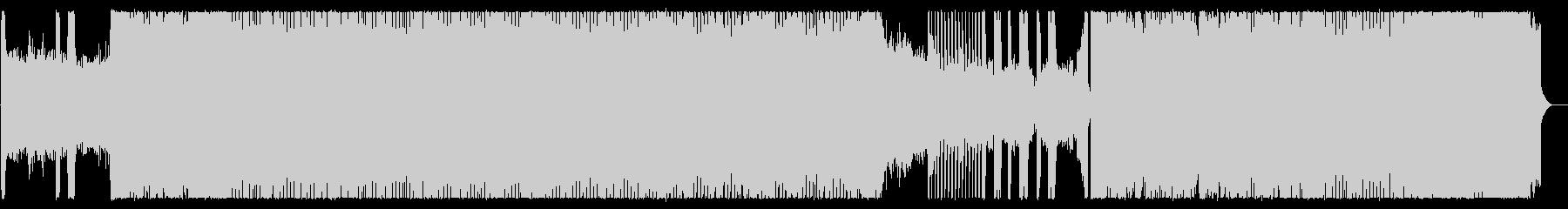 ハイテンポな極悪デスメタルの未再生の波形