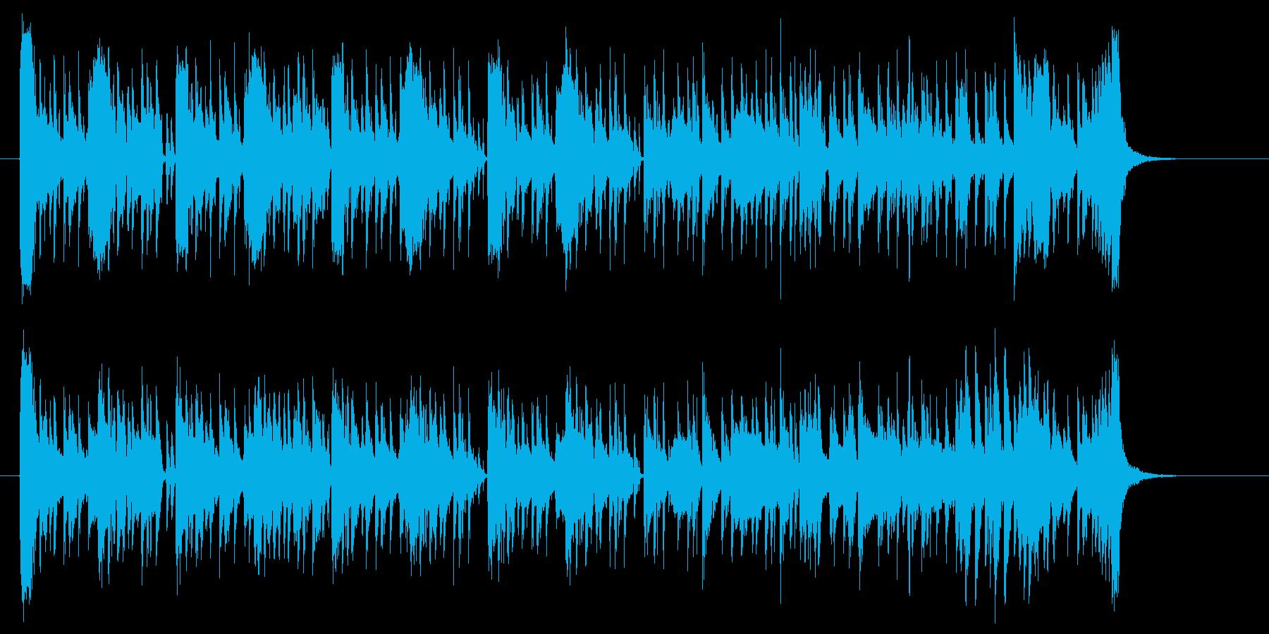 賑やかでファンキーなジングル曲の再生済みの波形