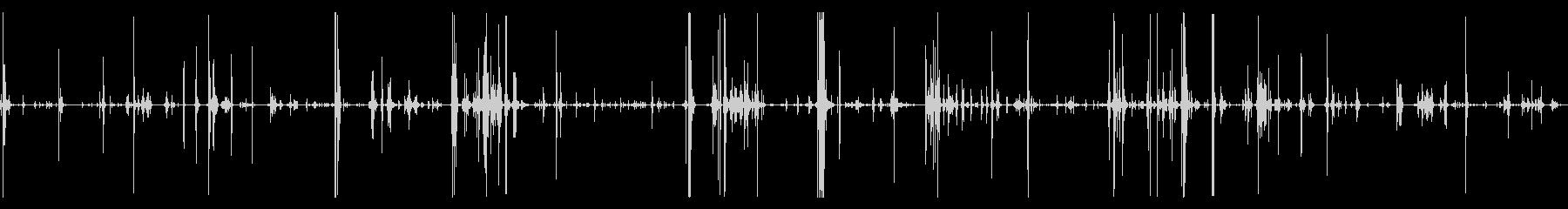 猫が鉛筆を転がしている音などの未再生の波形