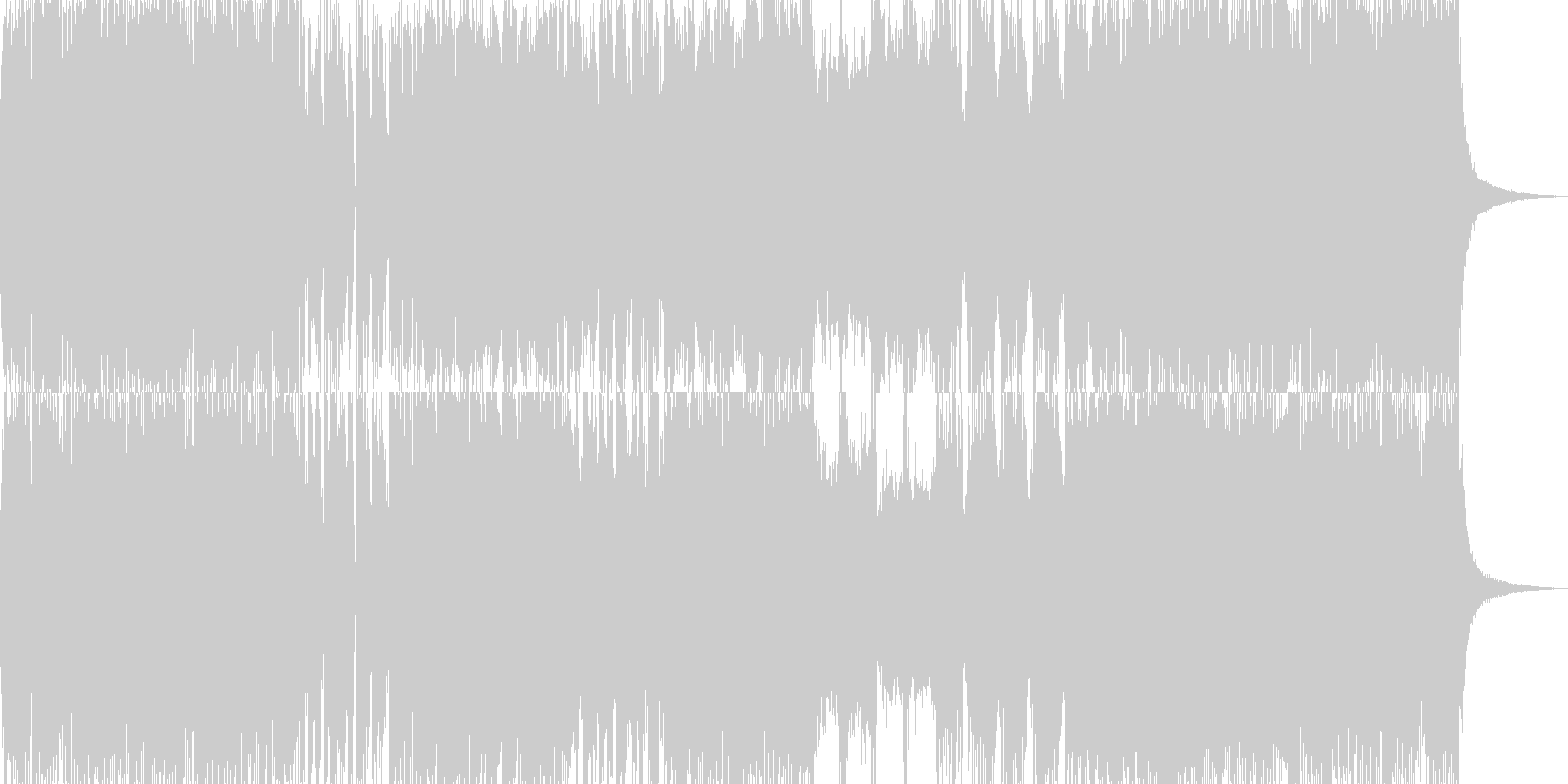 勢いのある登場曲☆和EDMオーケストラの未再生の波形