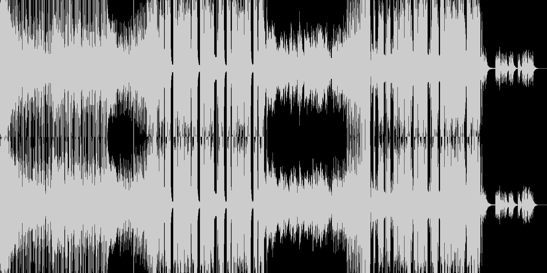 切ない雰囲気のクラブミュージックの未再生の波形