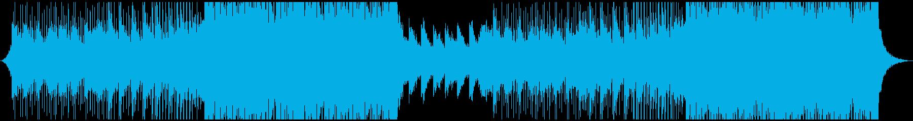 洋楽風 爽やかでクールなトロピカルハウスの再生済みの波形