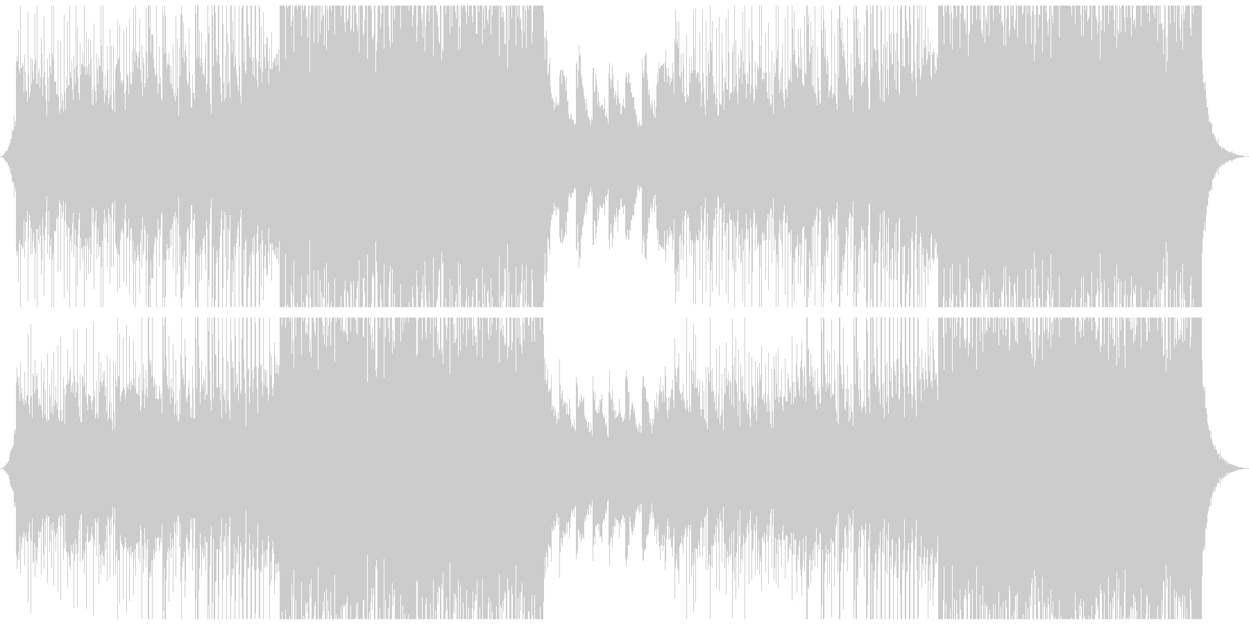 洋楽風 爽やかでクールなトロピカルハウスの未再生の波形