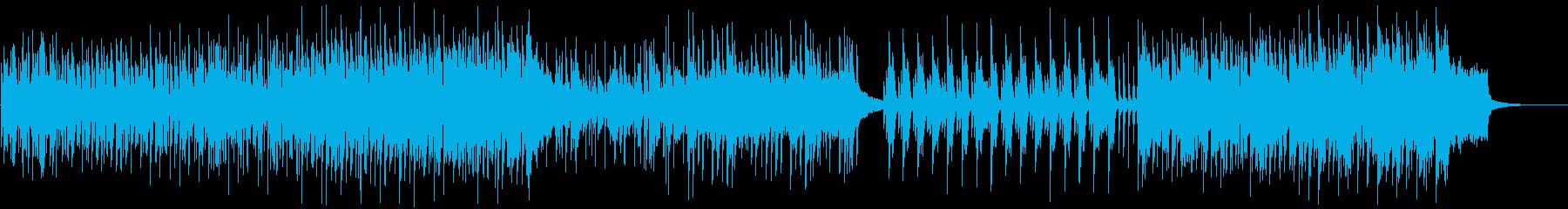 都会/オフィス/雑踏/人混みの中のBGMの再生済みの波形
