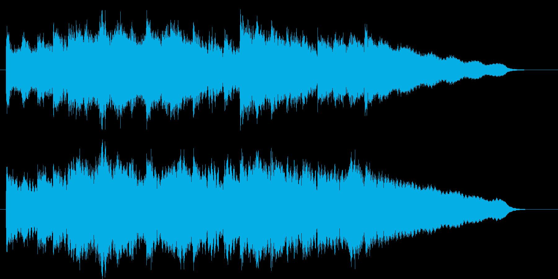 開場、開演用のチューブラーベルの再生済みの波形