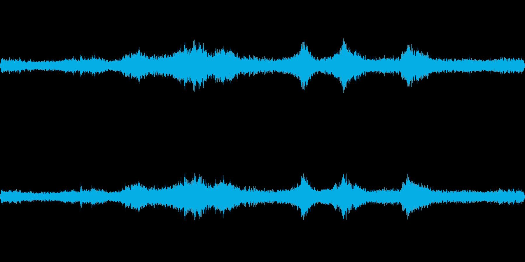 台風の日の室内環境音2aの再生済みの波形