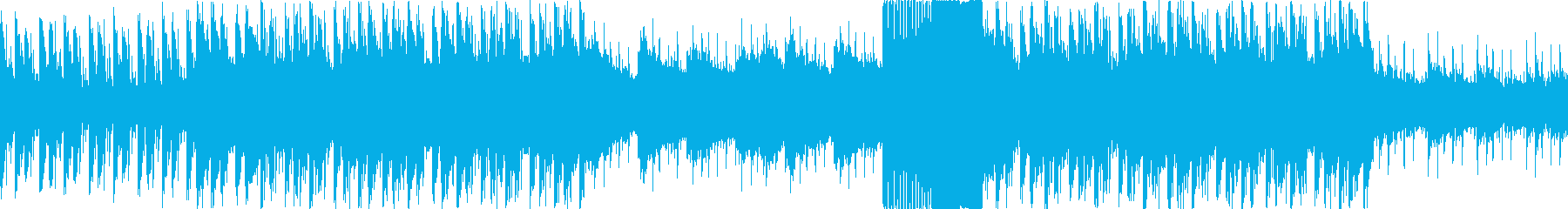 アップテンポの緊迫・戦闘シーン用BGMの再生済みの波形