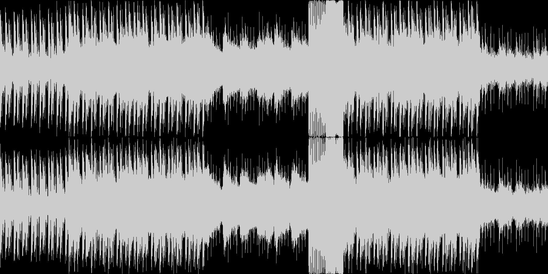 アップテンポの緊迫・戦闘シーン用BGMの未再生の波形