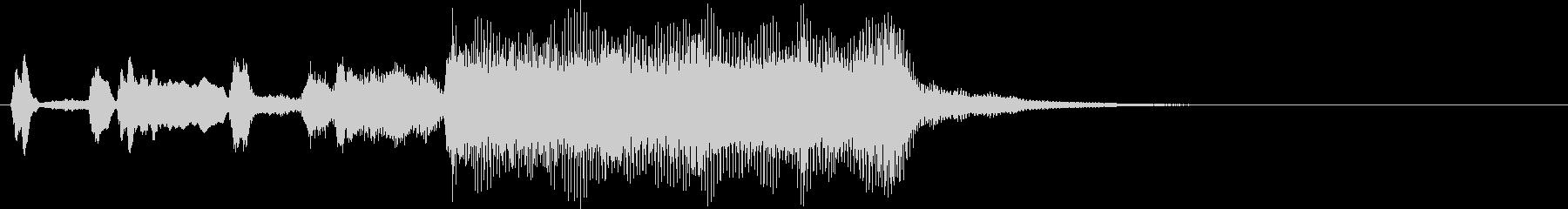 結果発表シンプルファンファーレ〜金管楽器の未再生の波形