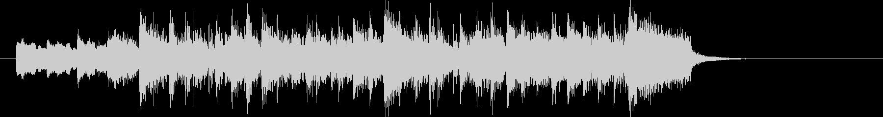 お洒落で鉄琴が印象的なBGMの未再生の波形