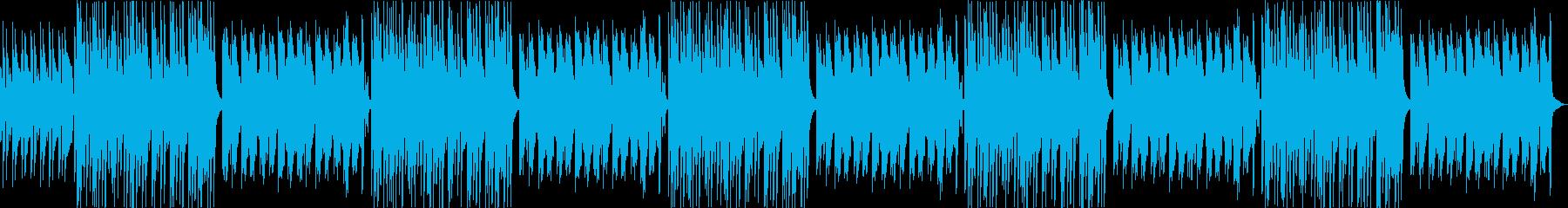 ほのぼのしたトイピアノがかわいいBGMの再生済みの波形
