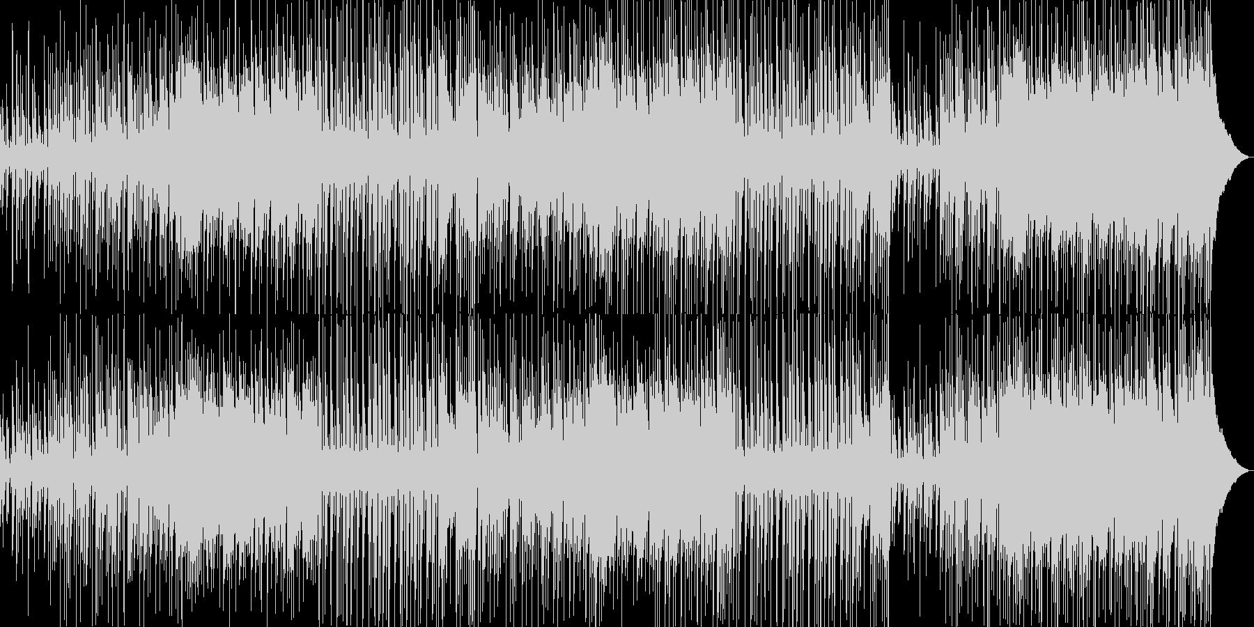 刻まれるリズムが心地よいポップロックの未再生の波形