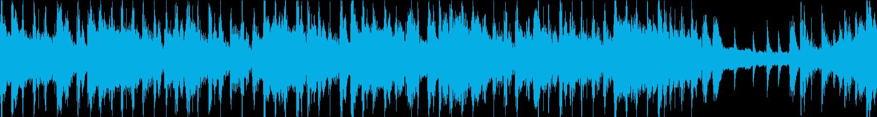 ジャジーでお洒落なBGM ループ仕様の再生済みの波形