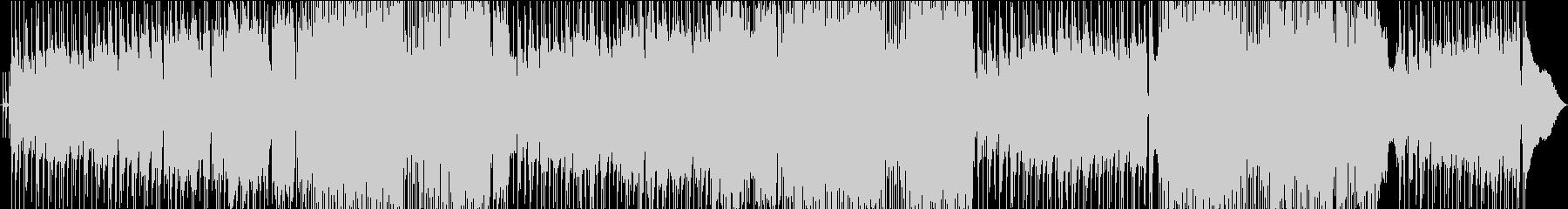 和の要素たっぷりの歌謡ロックの未再生の波形