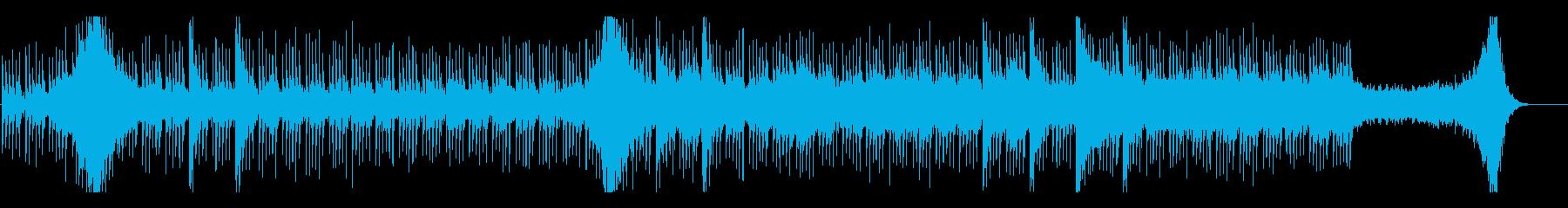 緊迫した場面、スリラーの再生済みの波形
