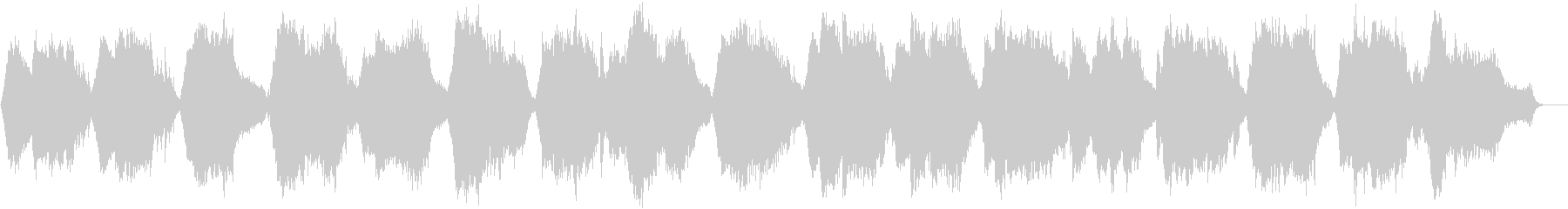 静かな目覚めの音楽の未再生の波形