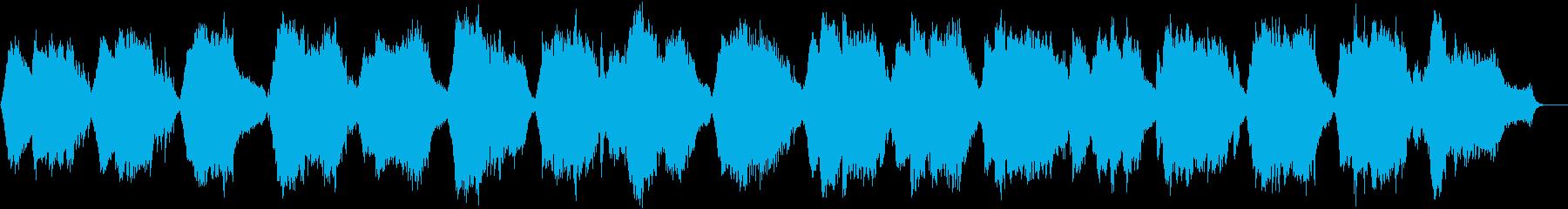 静かな目覚めの音楽の再生済みの波形
