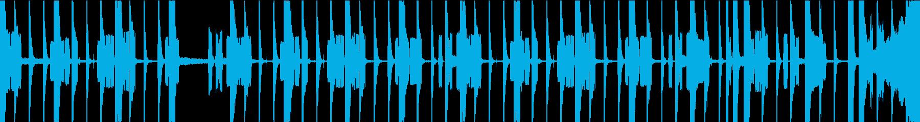 レコード風なLo-fiシンセのファンクの再生済みの波形