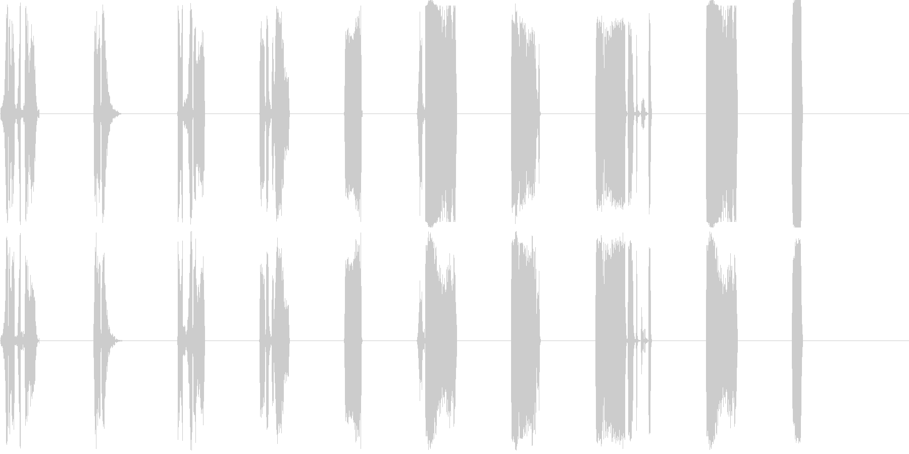 DJ Nasties 1-7の未再生の波形