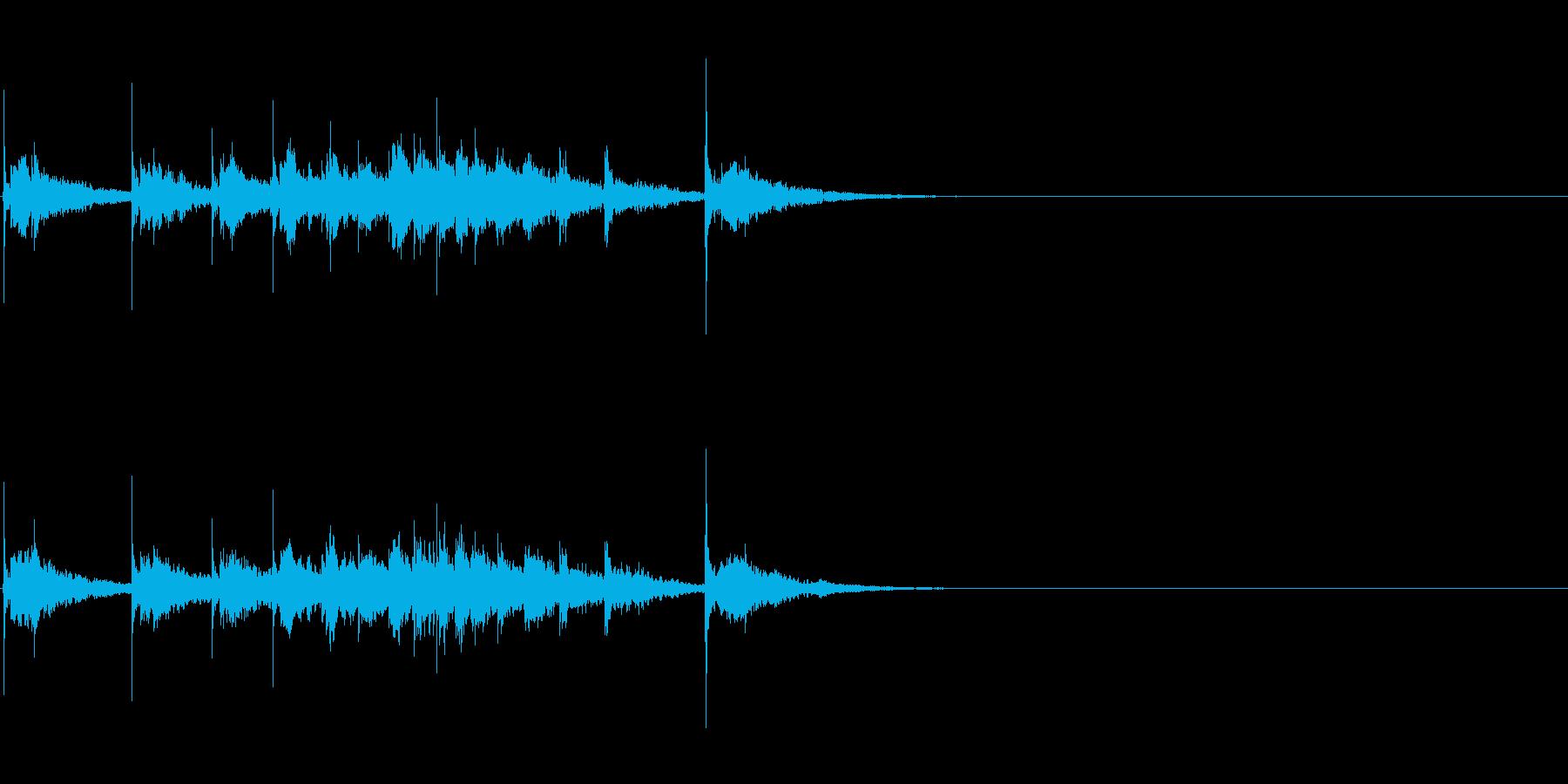 生演奏 琵琶 和風 古典風 残響有#14の再生済みの波形