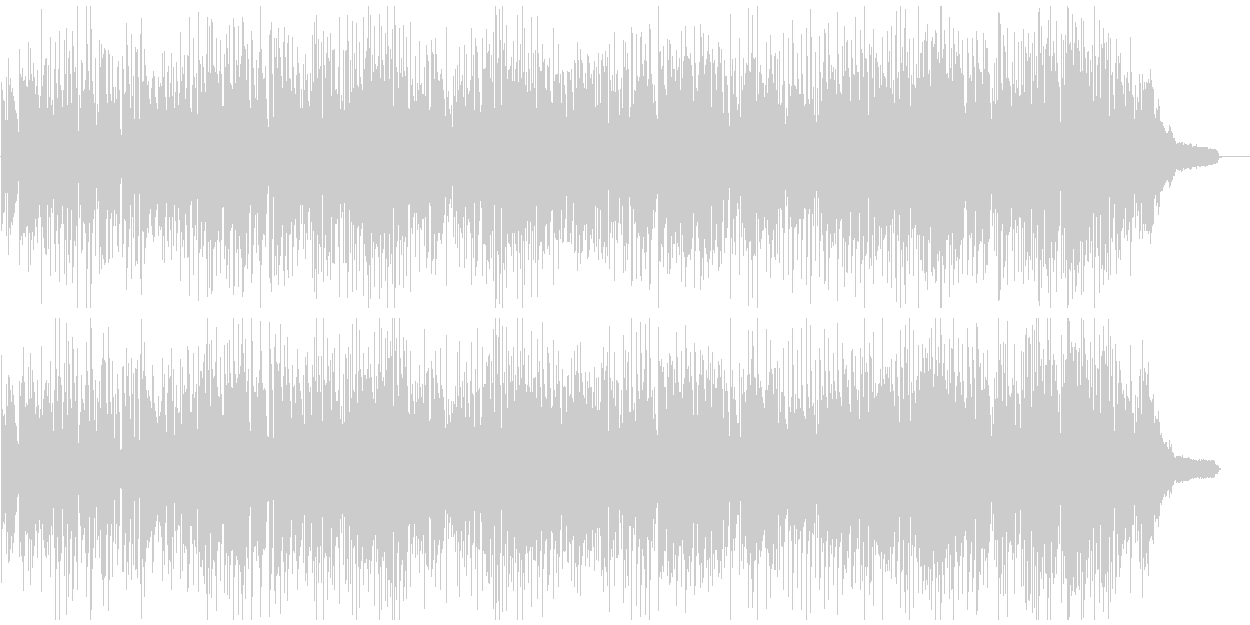 ファンキーなアルトサックスのクラブジャズの未再生の波形
