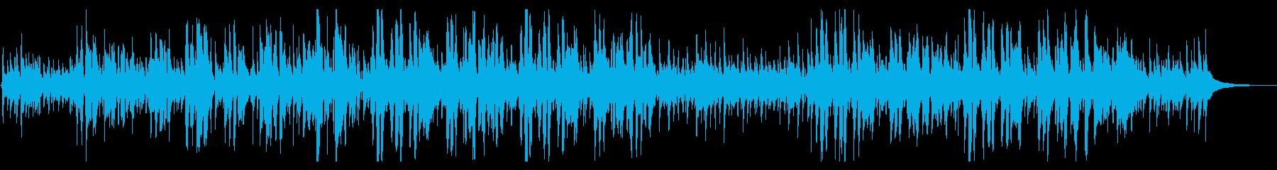 クリスマス曲、ゆったりしたジングルベルの再生済みの波形