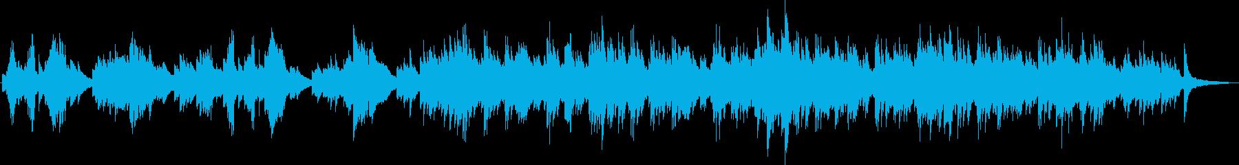 シンプルで優しいピアノソロ曲の再生済みの波形