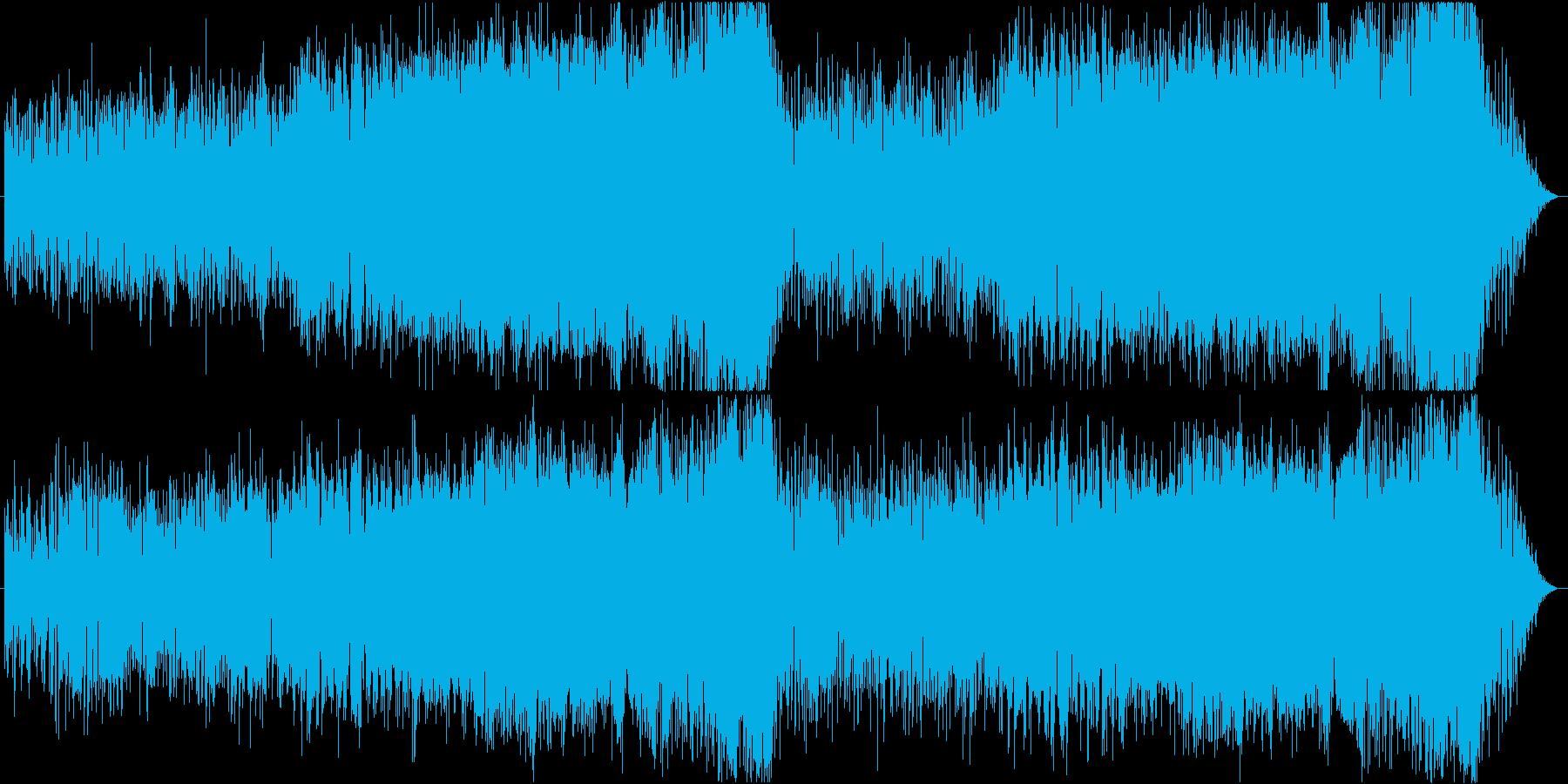 ほのぼのした木管と弦のRPG街系ループ曲の再生済みの波形
