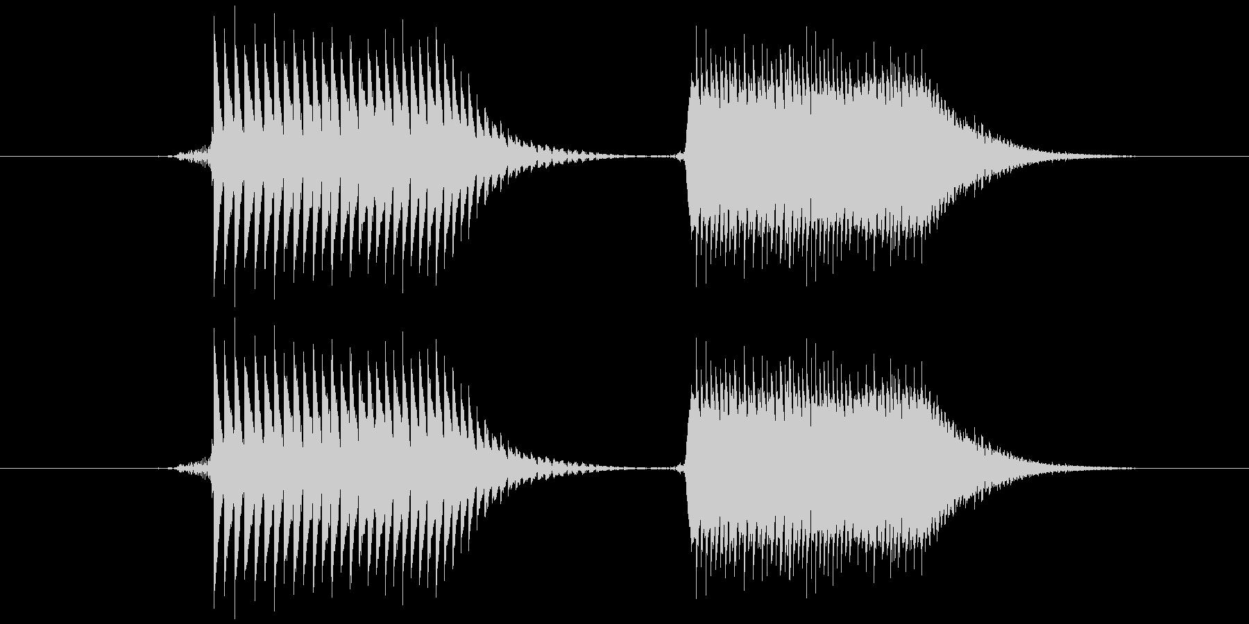 柔らかくレトロな音です。(ピポッ)の未再生の波形