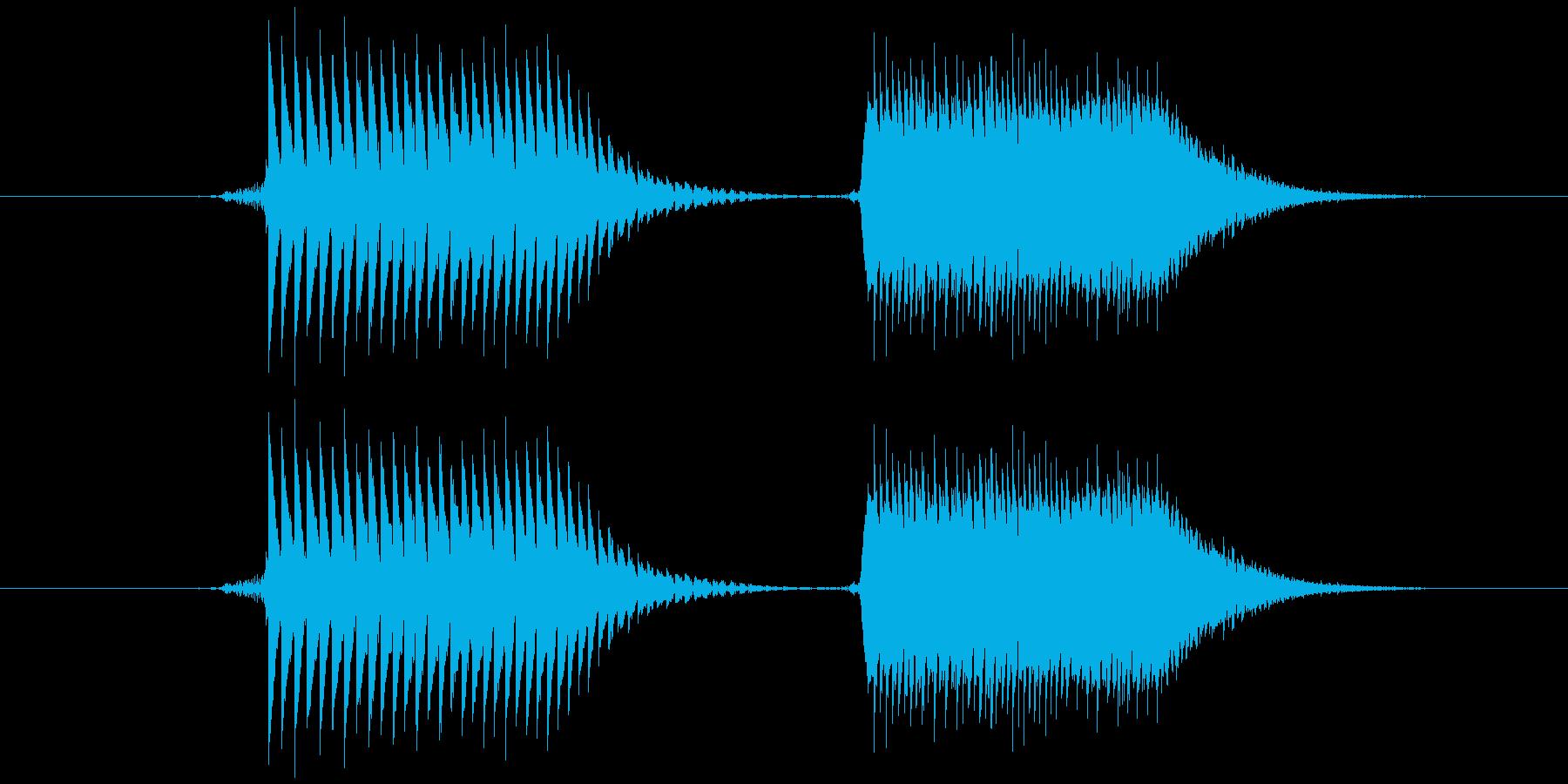 柔らかくレトロな音です。(ピポッ)の再生済みの波形