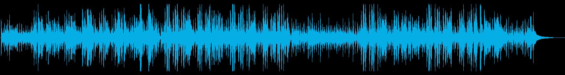リラックスできるハワイアン風クリスマス曲の再生済みの波形