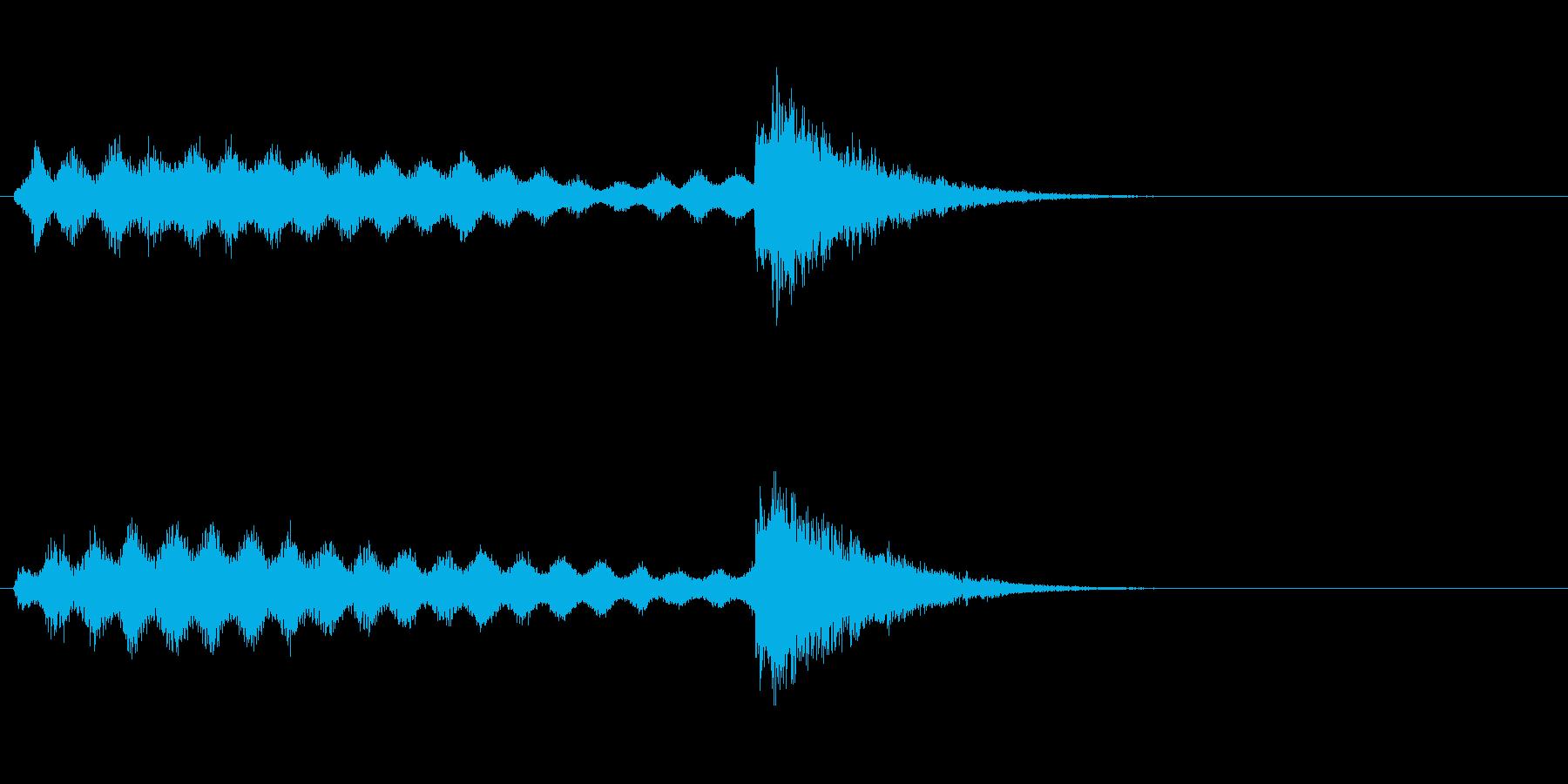 レベルアップやスキルアップなどの再生済みの波形