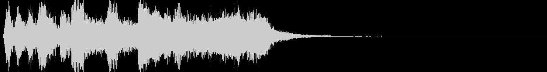 軽い/軽め/小さい ファンファーレ9の未再生の波形