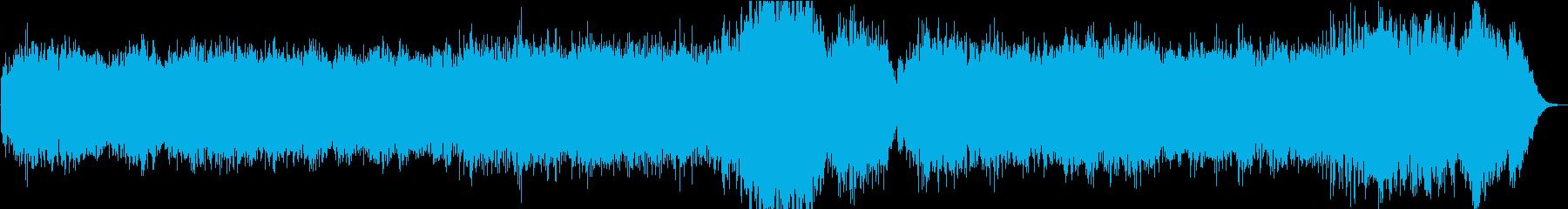 ソルフェジオ周波数、瞑想的な癒しの音楽の再生済みの波形