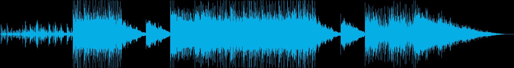 クールな空気感のハイテンポエレクトロニカの再生済みの波形