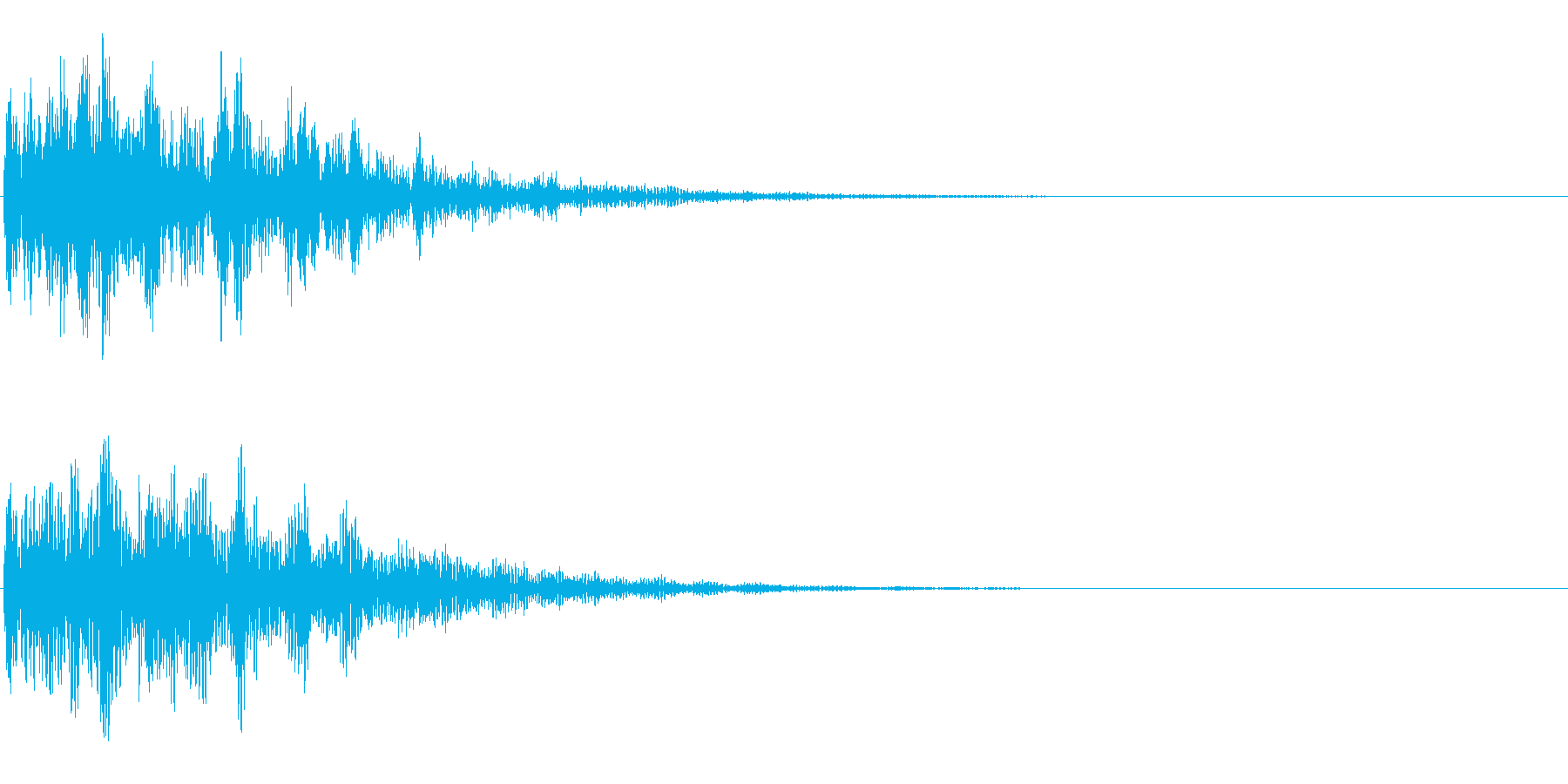 深淵な響きの再生済みの波形