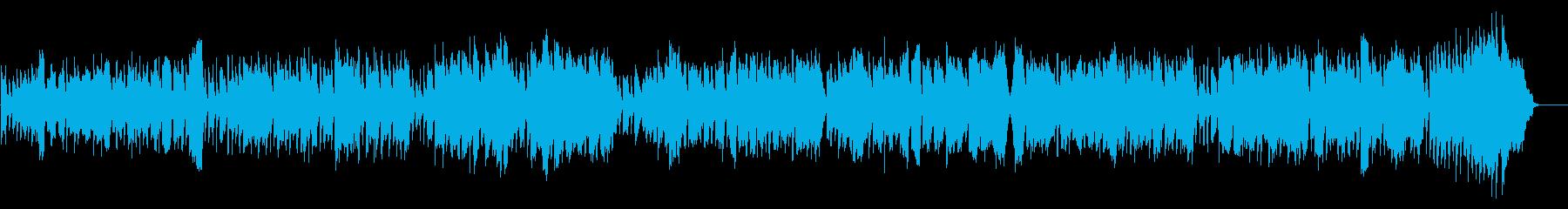 シンプルなワルツの再生済みの波形