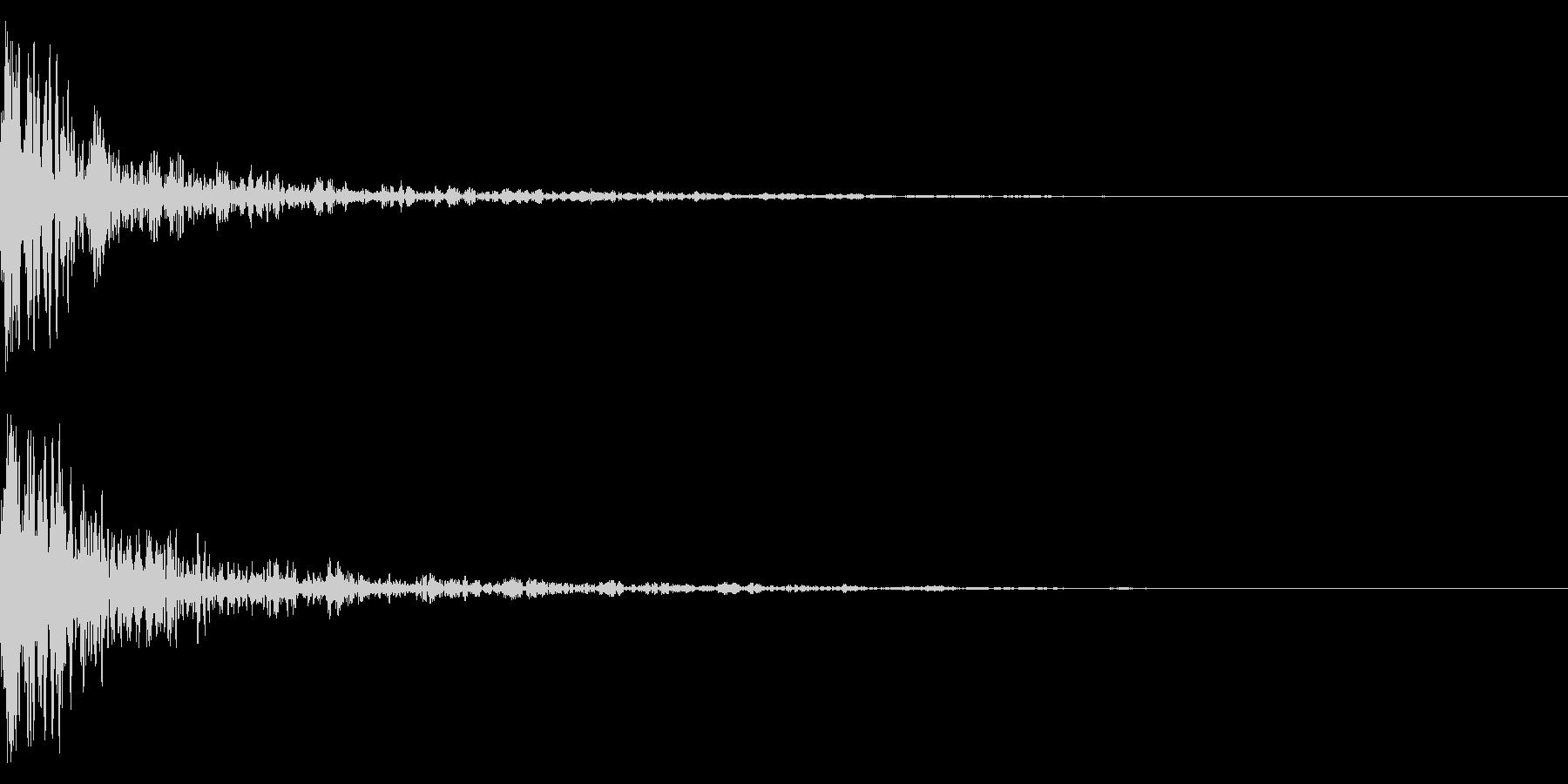 ドーン-48-1(インパクト音)の未再生の波形