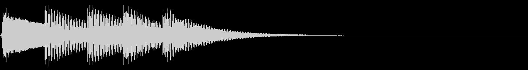 シンプルな着信音 通信音の未再生の波形