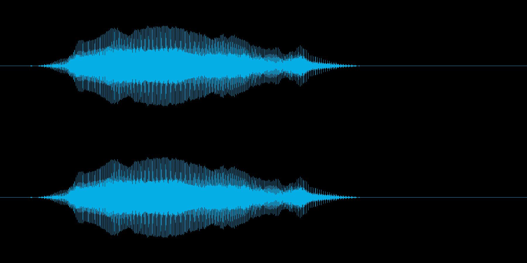 よーい - 幼稚園児女の子(4歳) の再生済みの波形